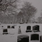 Cemetary In Snow