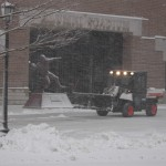 Flutie Plaza Getting Snowplowed