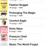Artist Sub-menu for Cake